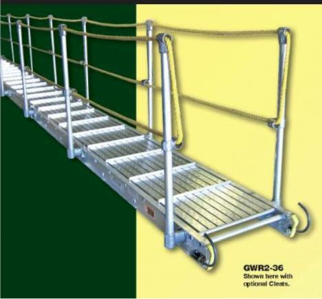 Gangway with Rope Handrails | Gator Supply Company